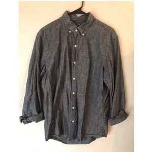 Old Navy Men's Large Grey Button Down Long Sleeve